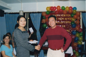 The warmly party remarks 10 years of establishment and development of Viet Huong company
