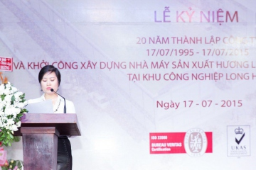 General Director Nguyen Thuy Quynh had a meaningful speech