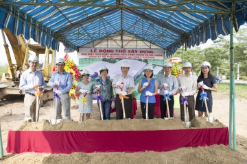 Ground breaking ceremony of Viet Huong flavour & fragrance factory in Long Hau Industrial Park