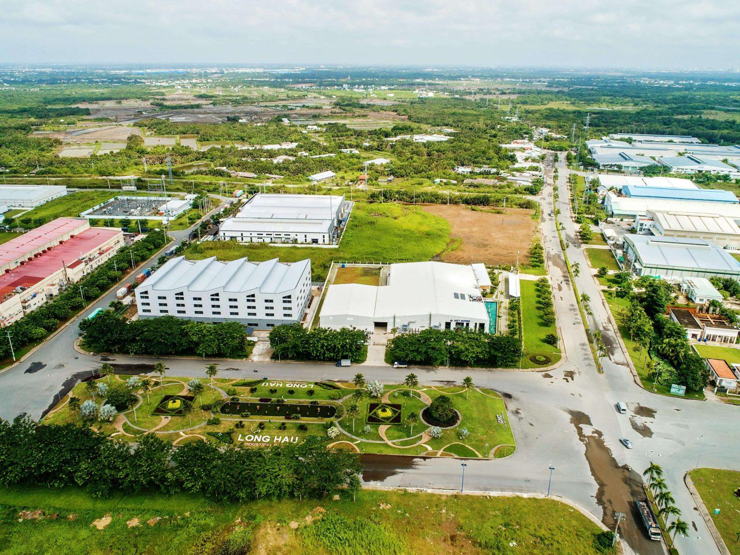 nhà máy hương liệu Việt Hương nhìn từ trên cao